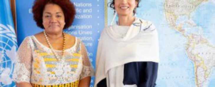 Ambassador Bass-Golokeh Presents Credentials to the Director General of UNESCO, Ms. Audrey Azoulay
